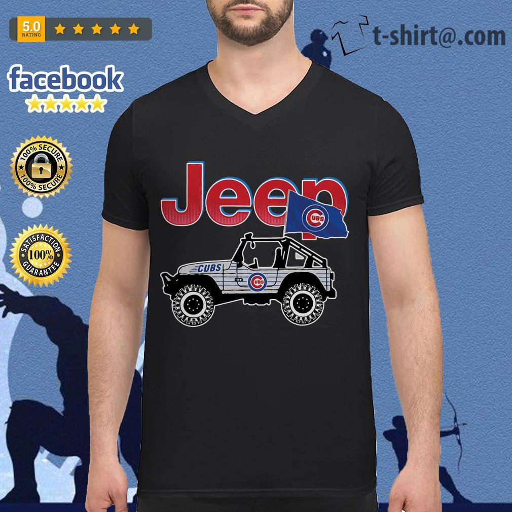 Jeep Chicago Cubs V-neck T-shirt