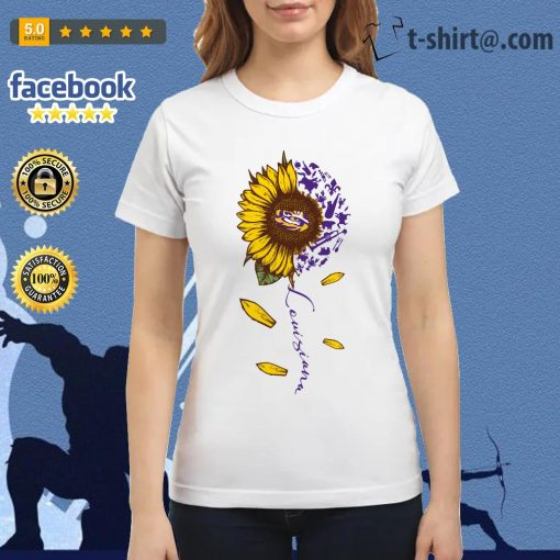 LSU Tiger sunflower Louisiana Ladies Tee