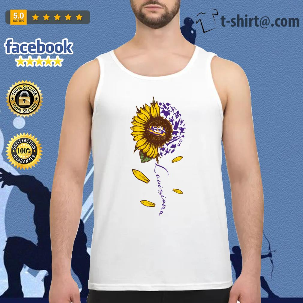 LSU Tiger sunflower Louisiana Tank top
