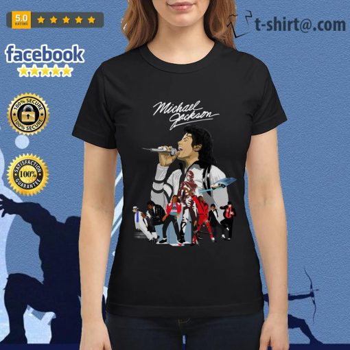 Michael Jackson signature wallpaper Ladies Tee