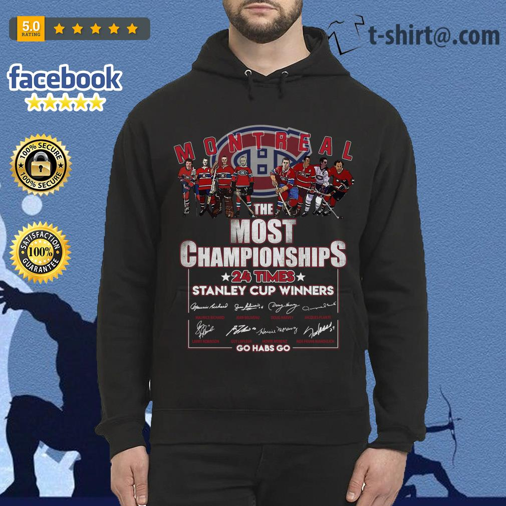 Montreal the most championships 24 times Stanley Cup Winners signature Hoodie
