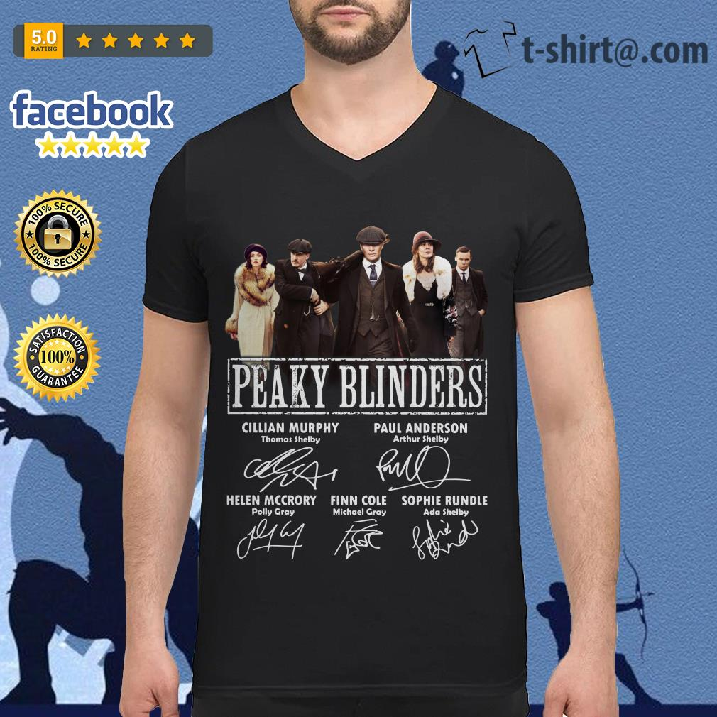 Peaky Blinders signatures V-neck T-shirt