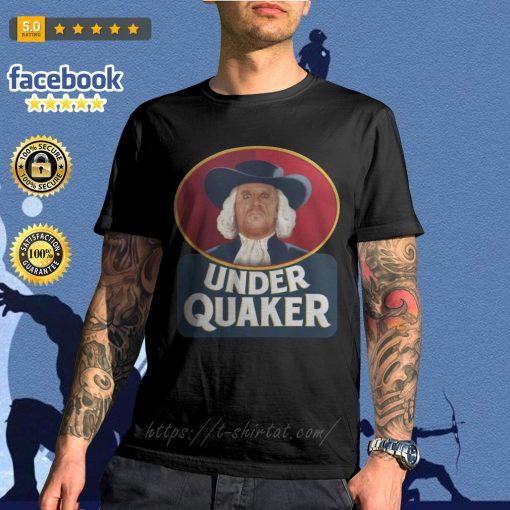 Quaker Oats Under Quaker shirt