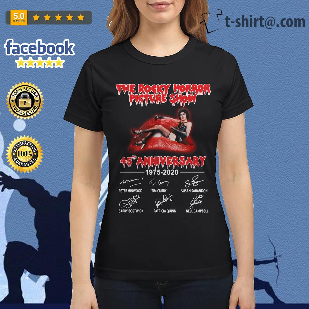 The Rocky Horror Picture Show 45th anniversary 1975-2020 signature Ladies Tee