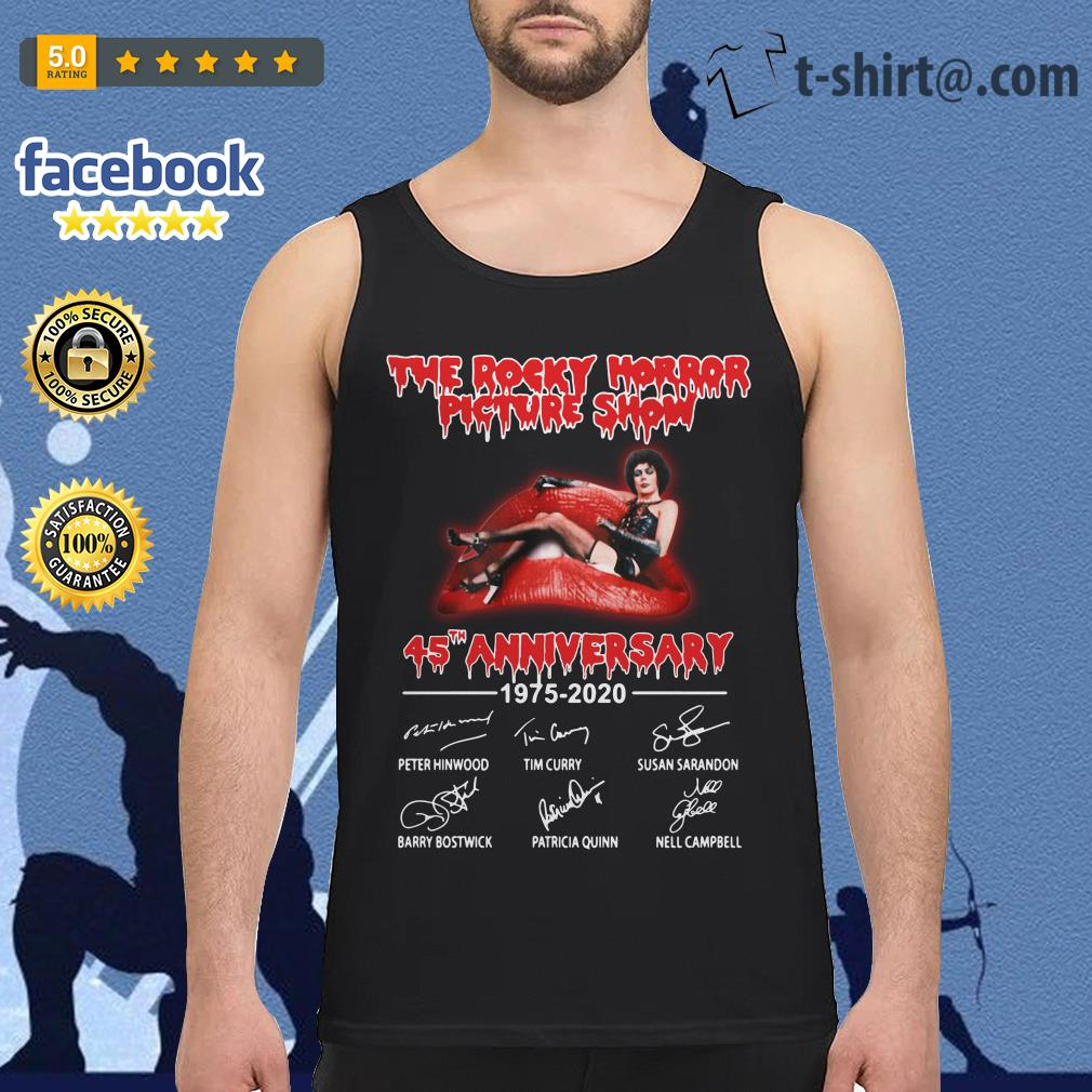 The Rocky Horror Picture Show 45th anniversary 1975-2020 signature Tank top