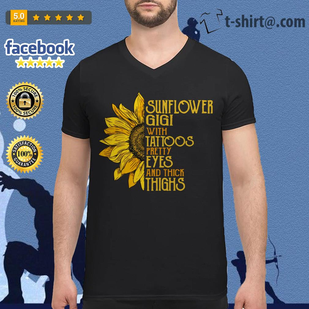 Sunflower Gigi with tattoos pretty eyes and thick thighs V-neck T-shirt