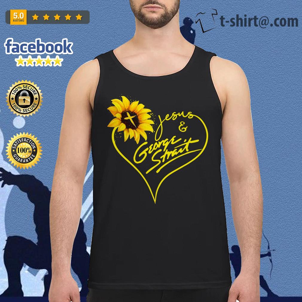 Sunflower Jesus and George Strait Tank top
