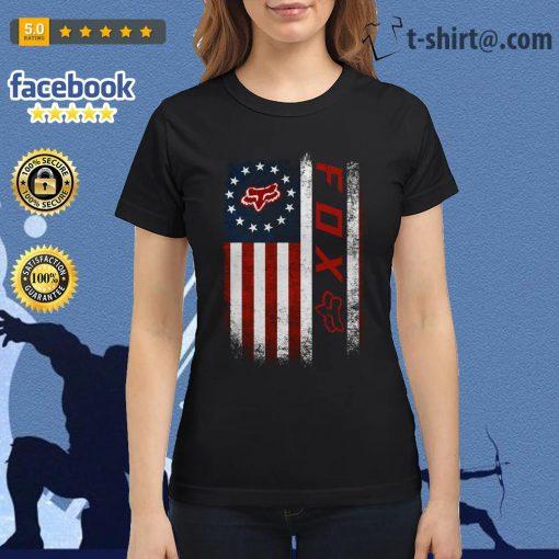 Veteran American flag Fox Racing Ladies Tee