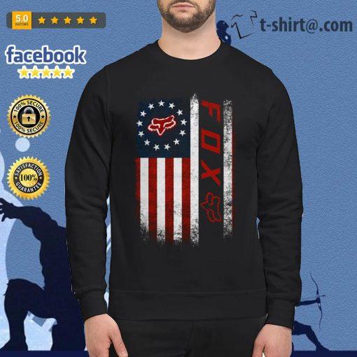 Veteran American flag Fox Racing Sweater