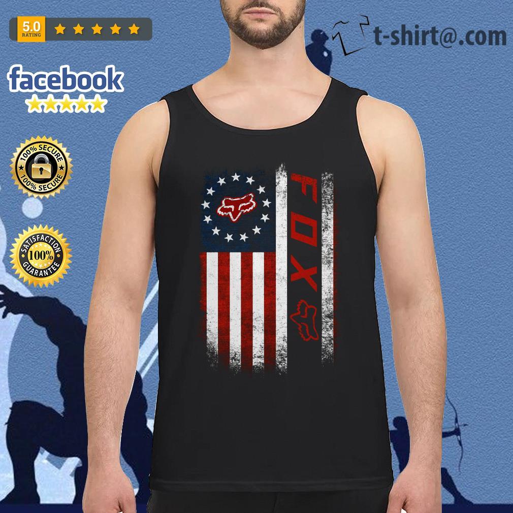 Veteran American flag Fox Racing Tank top