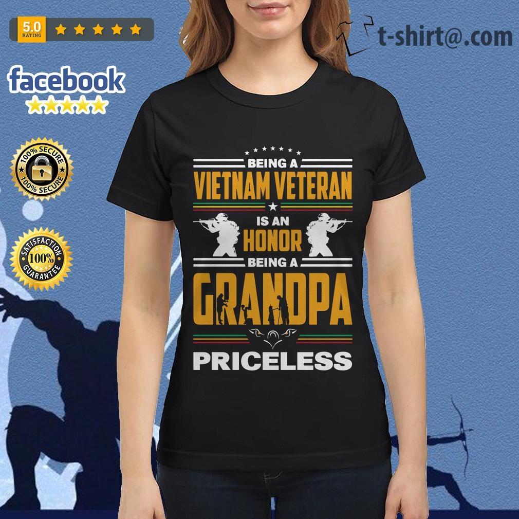 Being a Vietnam veteran is an honor being a grandpa priceless Ladies Tee