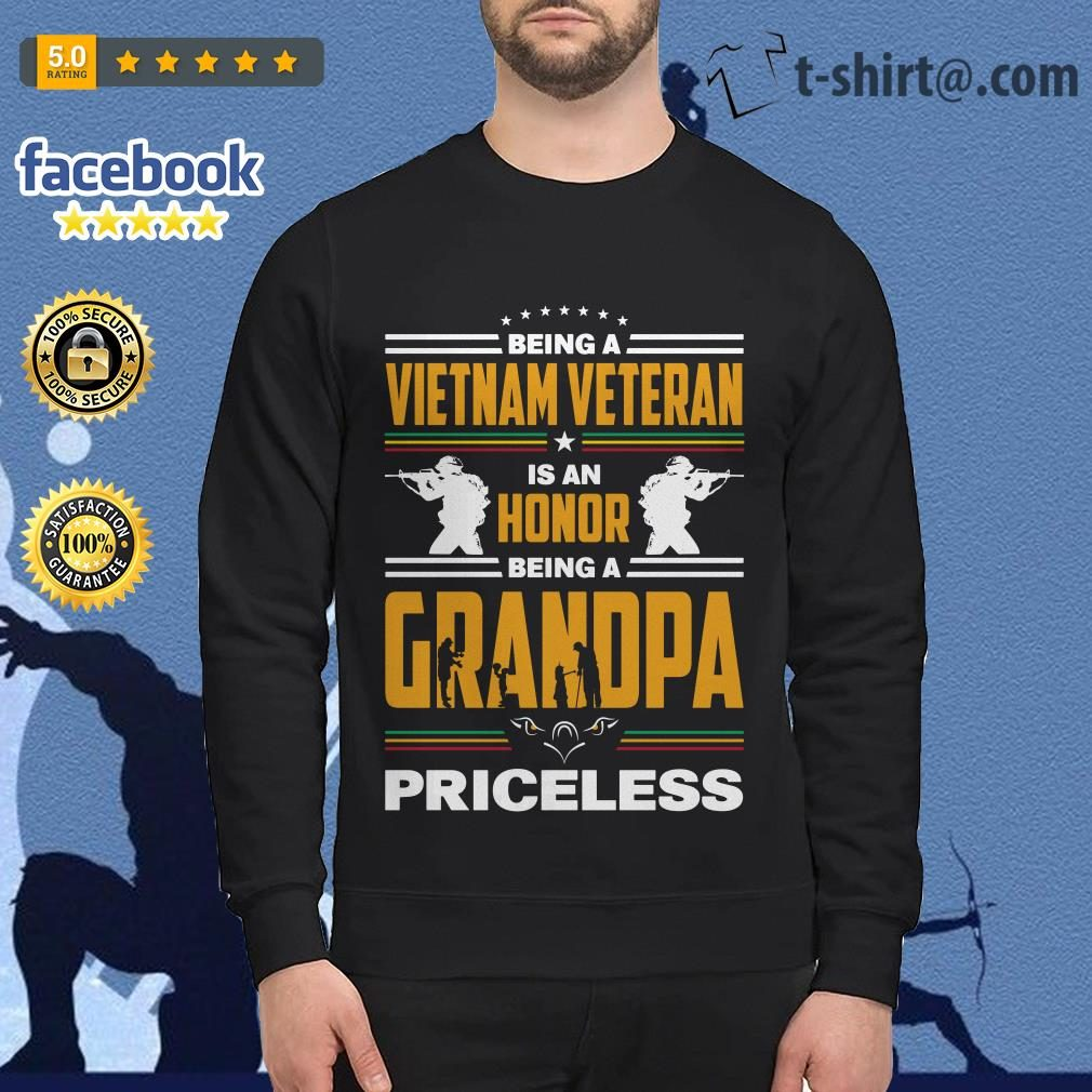 Being a Vietnam veteran is an honor being a grandpa priceless Sweater