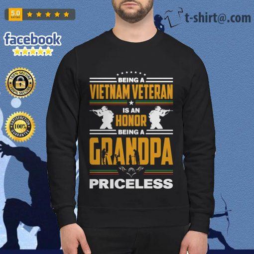 Being a Vietnam veteran is an honor being a grandpa priceless Sweater