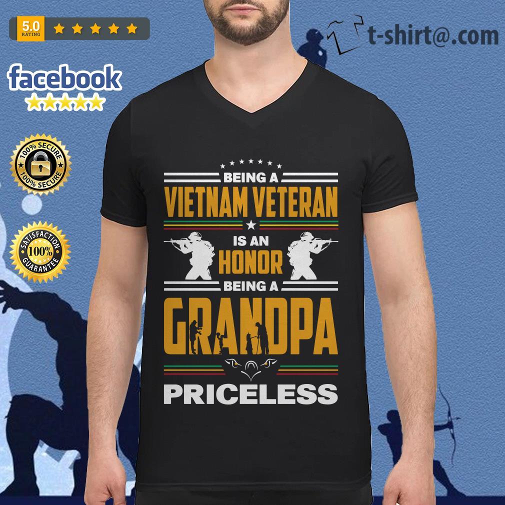 Being a Vietnam veteran is an honor being a grandpa priceless V-neck T-shirt