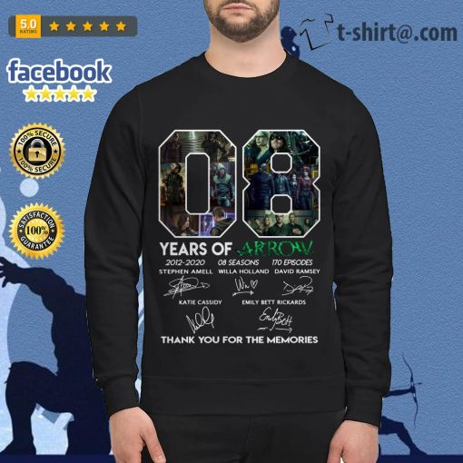 08 years of Arrow 2012-2020 08 seasons 170 episodes signatures Sweater