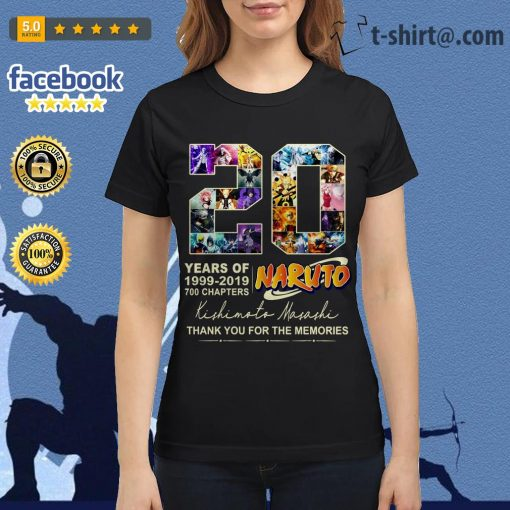 20 years of Naruto 1999-2019 700 chapters thank you for the memories Ladies Tee