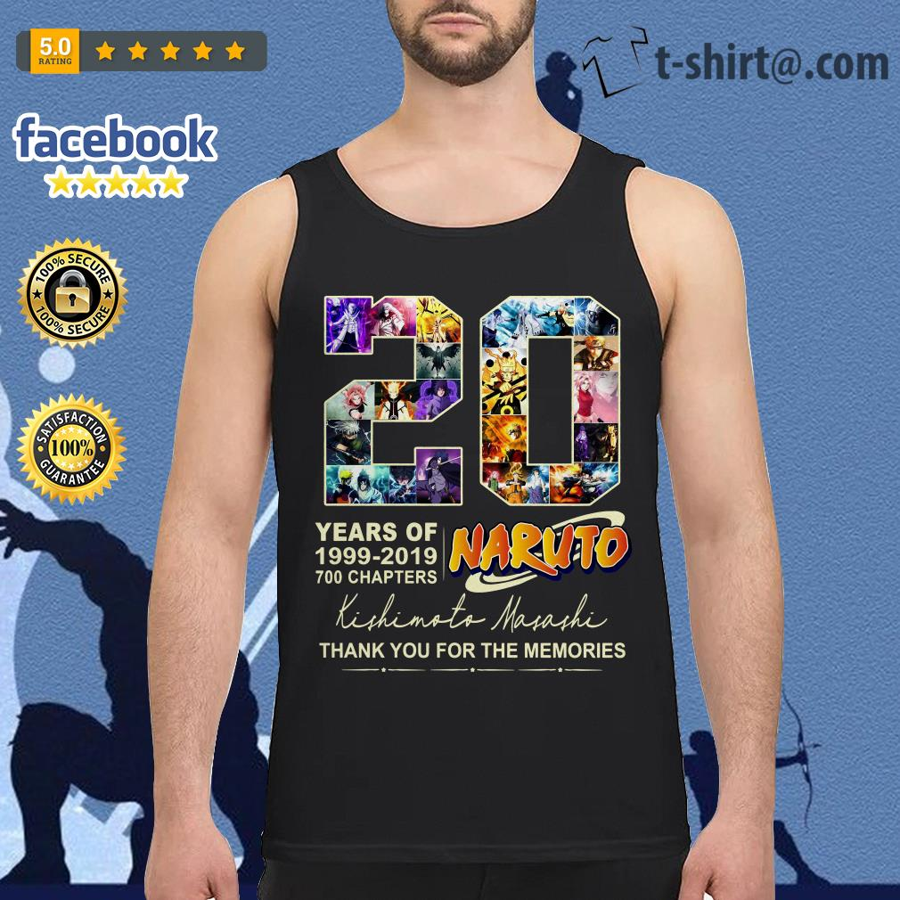 20 years of Naruto 1999-2019 700 chapters thank you for the memories Tank top