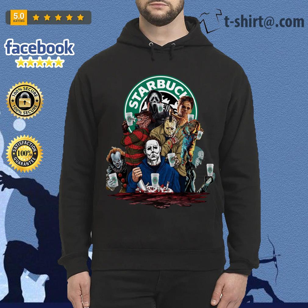 Horror characters Starbucks Hoodie