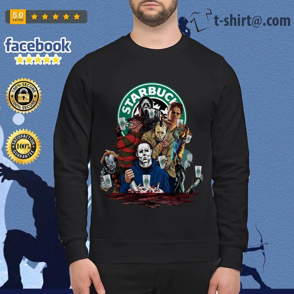 Horror characters Starbucks Sweater