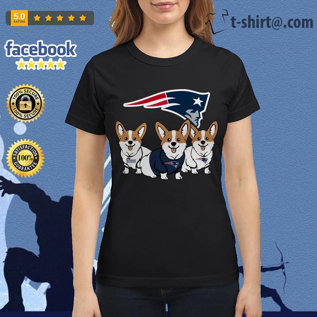 New England Patriots Corgi dog Ladies Tee