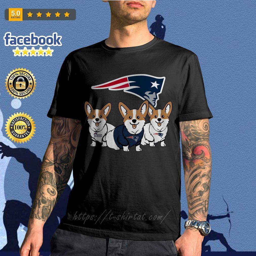 New England Patriots Corgi dog shirt