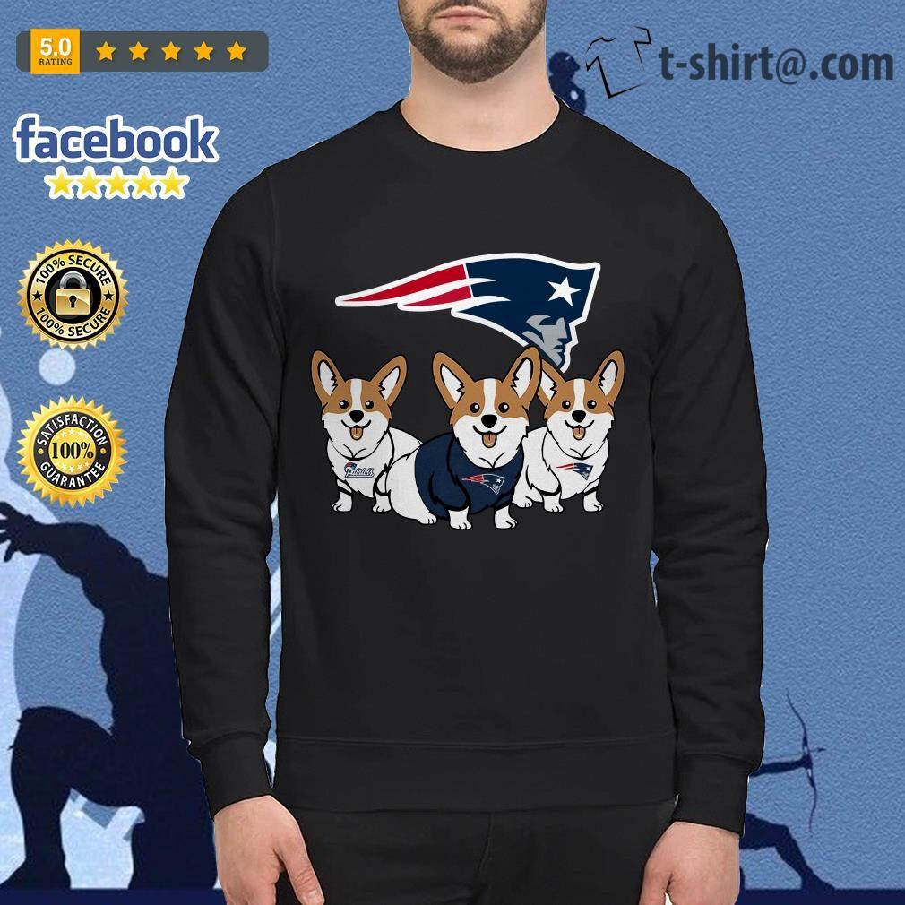 cheaper 082b2 38a2a New England Patriots Corgi dog shirt