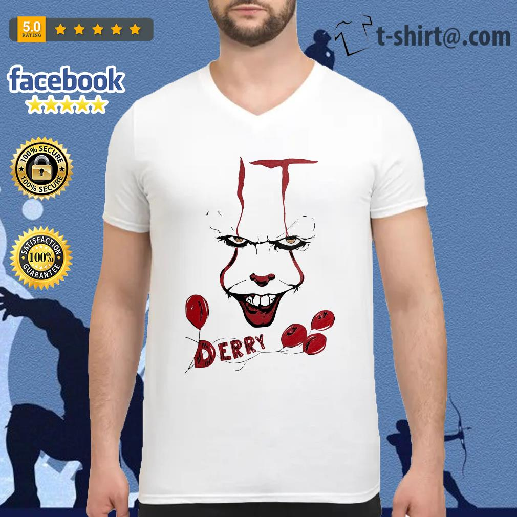 IT Pennywise Derry V-neck T-shirt
