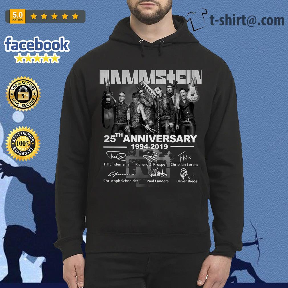 Rammstein 25th anniversary 1994-2019 signatures Hoodie