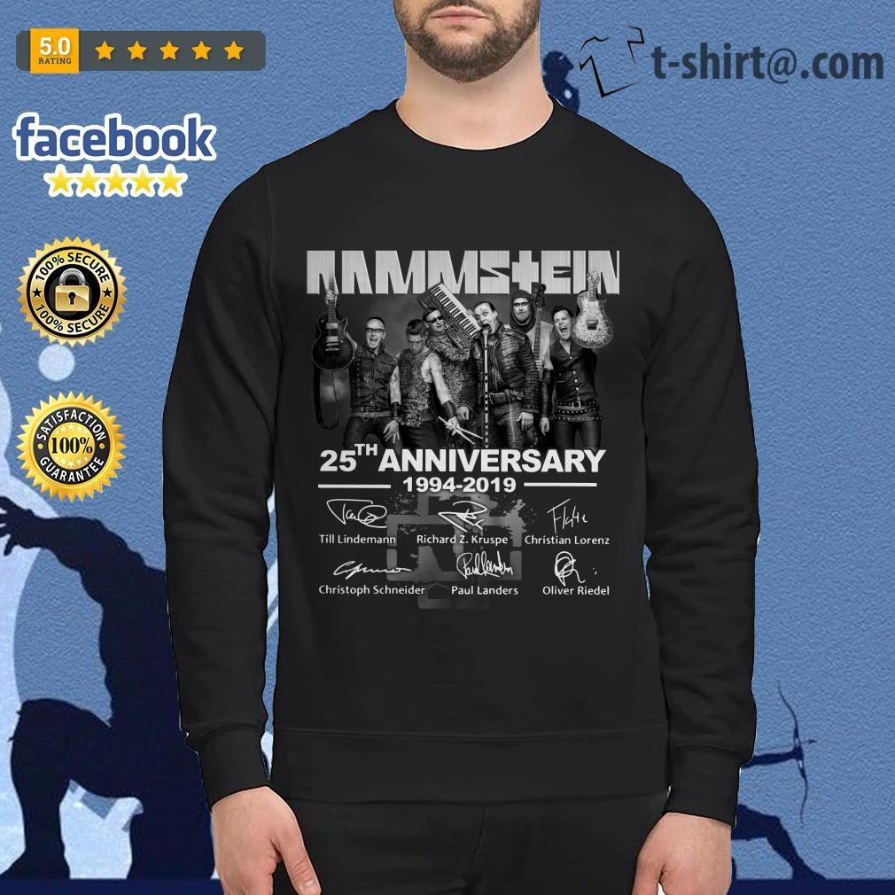 Rammstein 25th anniversary 1994-2019 signatures Sweater