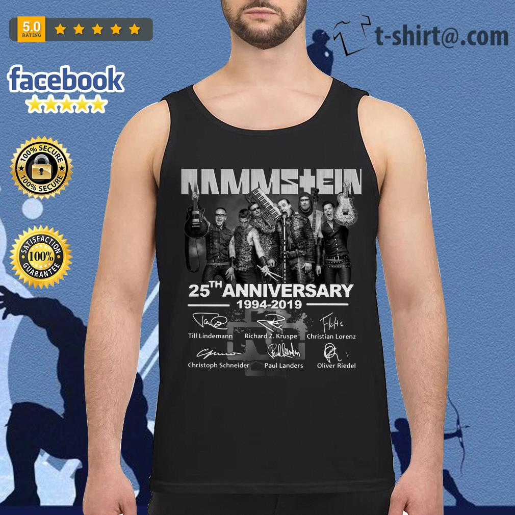 Rammstein 25th anniversary 1994-2019 signatures Tank top