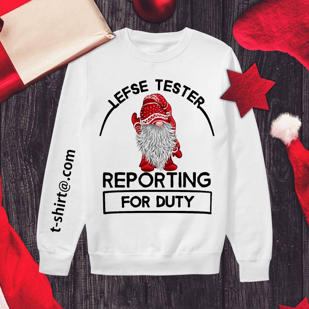 Lefse tester reporting for duty Sweater