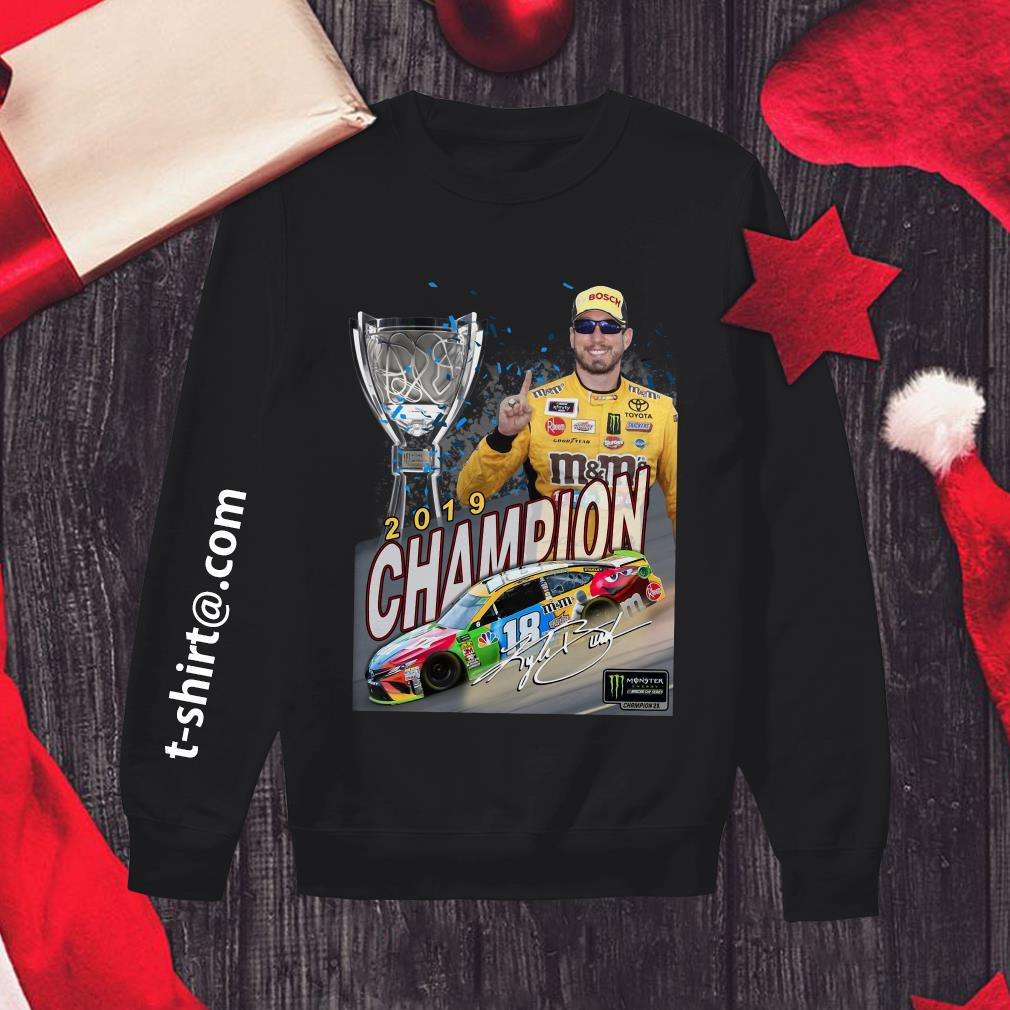 M&M's Kyle Busch Joe Gibbs 2019 champion signature Sweater