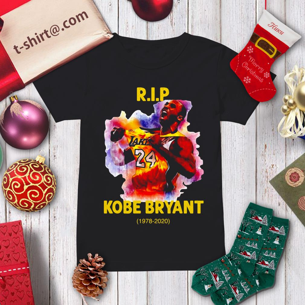 RIP Kobe Bryant Lakers 24 1978-2020 Ladies Tee