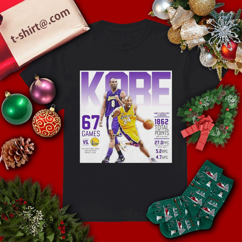 RIP Kobe's career stats vs warriors 1862 total points shirt