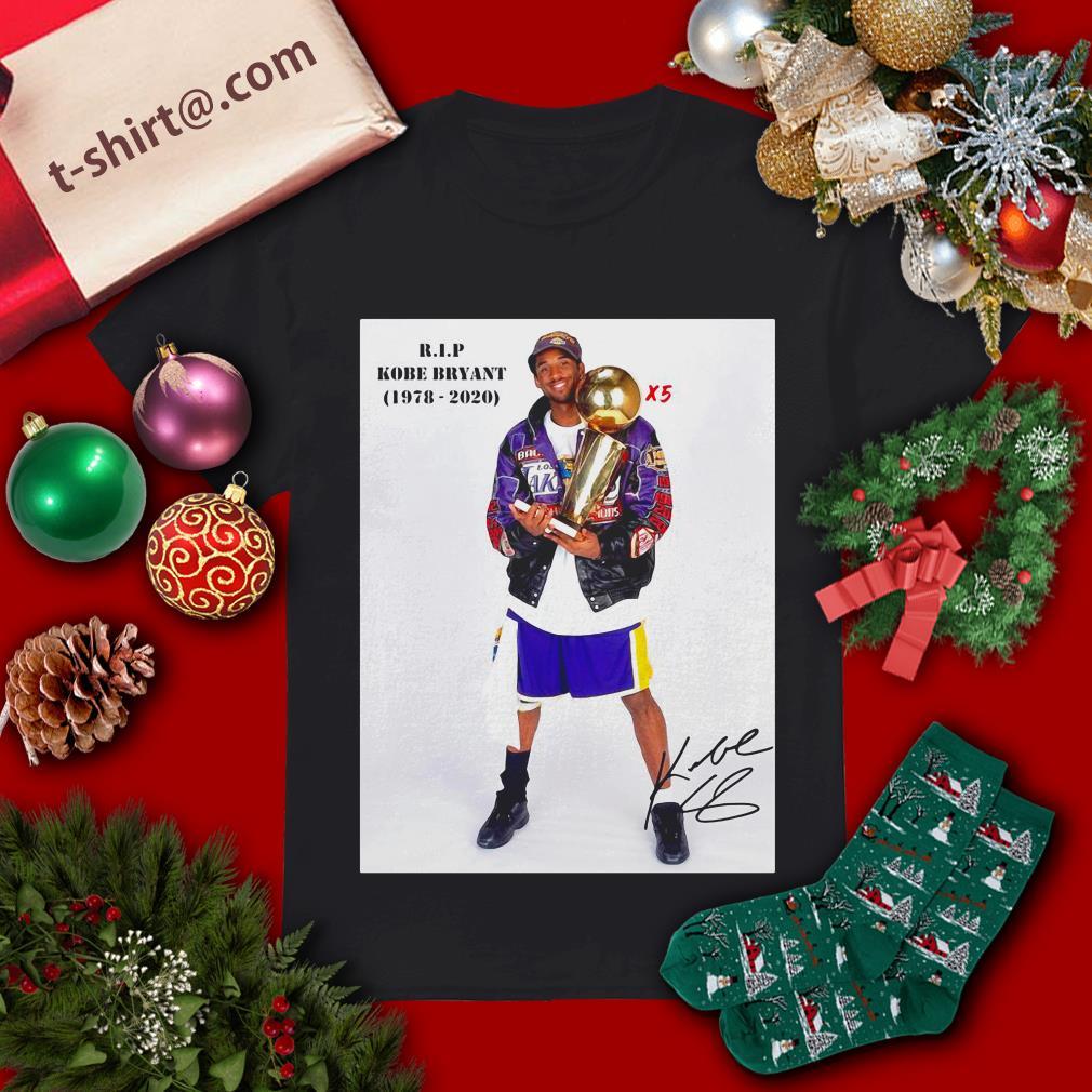 X5 RIP Kobe Bryant 1978-2020 shirt