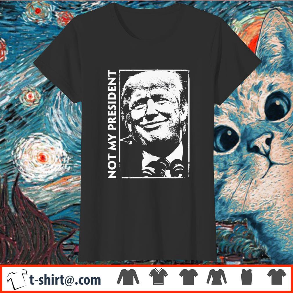 Not My President Anti-Donald Trump Slouchy Off Shoulder Oversized Sweatshirt