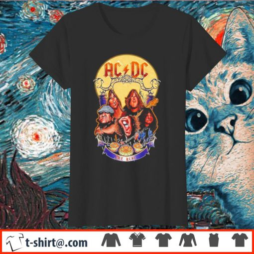ACDC hard rock band Hail to the ACDC Halloween s ladies-tee