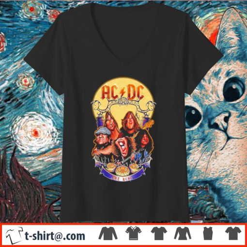 ACDC hard rock band Hail to the ACDC Halloween s v-neck-t-shirt