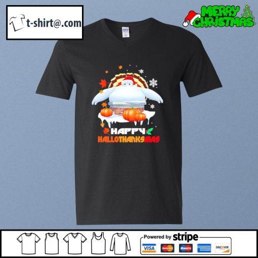 Big Hero 6 Balalala Happy Hallothanksmas s v-neck-t-shirt