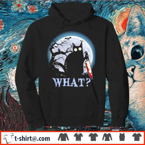 Black cat what murderous Halloween s hoodie