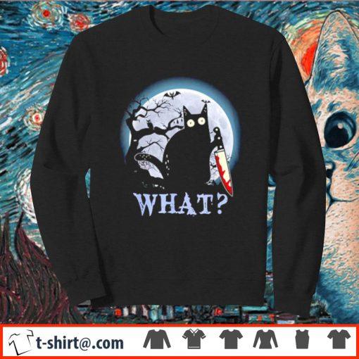 Black cat what murderous Halloween s sweater