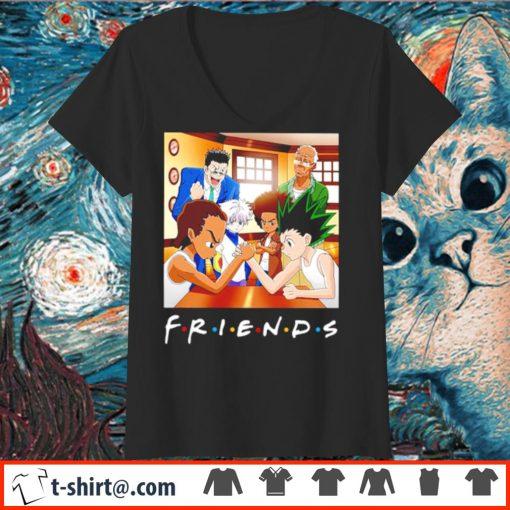 Boondocks Hunter x Hunter Friends s v-neck-t-shirt