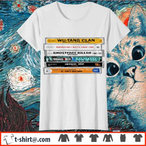 Cat Wu-Tang Sticker The Wu Tapes Hand-Illustrated s ladies-tee