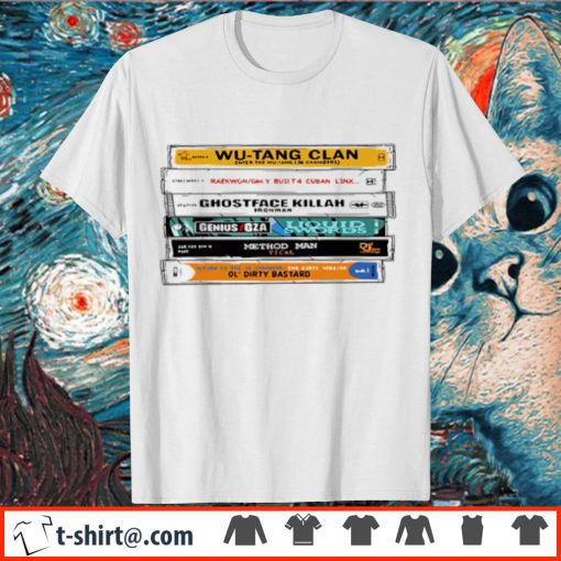 Cat Wu-Tang Sticker The Wu Tapes Hand-Illustrated shirt