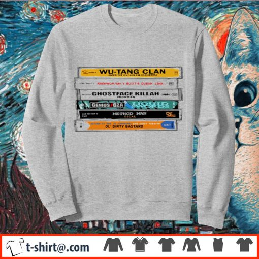 Cat Wu-Tang Sticker The Wu Tapes Hand-Illustrated s sweater