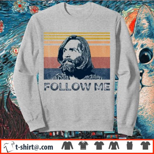 Charles Manson follow me vintage s sweater