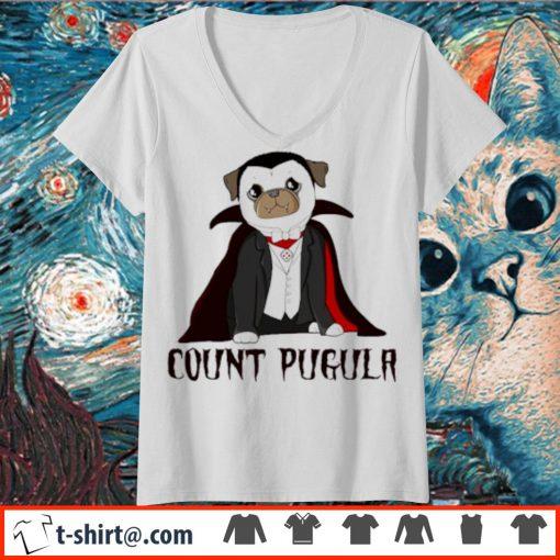 Dracula count pugula s v-neck-t-shirt