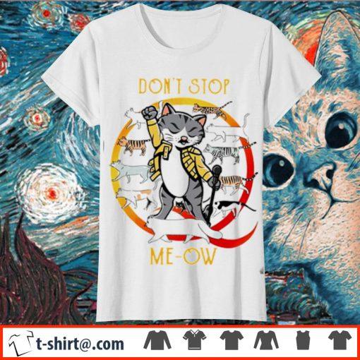 Freddie Mercury cat don't stop meow s ladies-tee