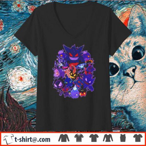 Ghost Pokemon Halloween s v-neck-t-shirt