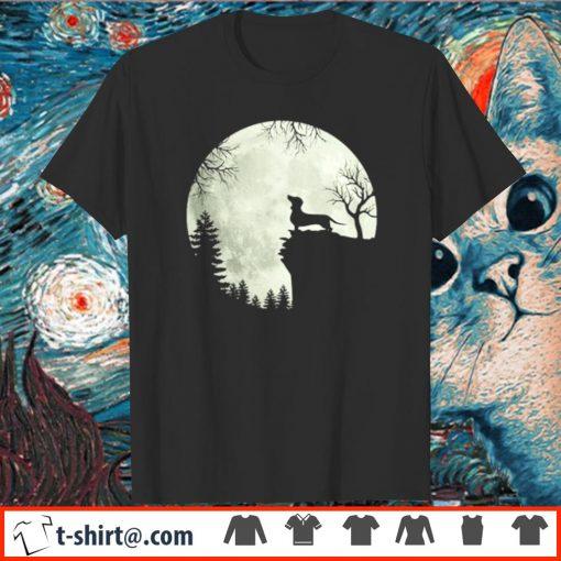 Halloween Moon Dachshund shirt